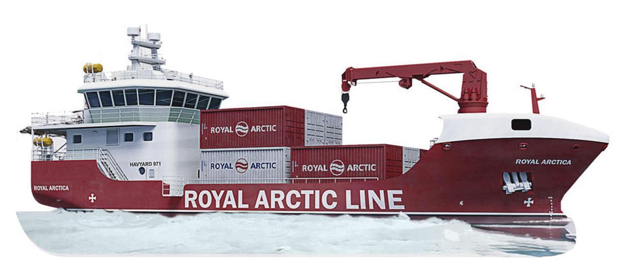Recreación de uno de los dos buques que construirá Nodosa Shipyard. // FdV
