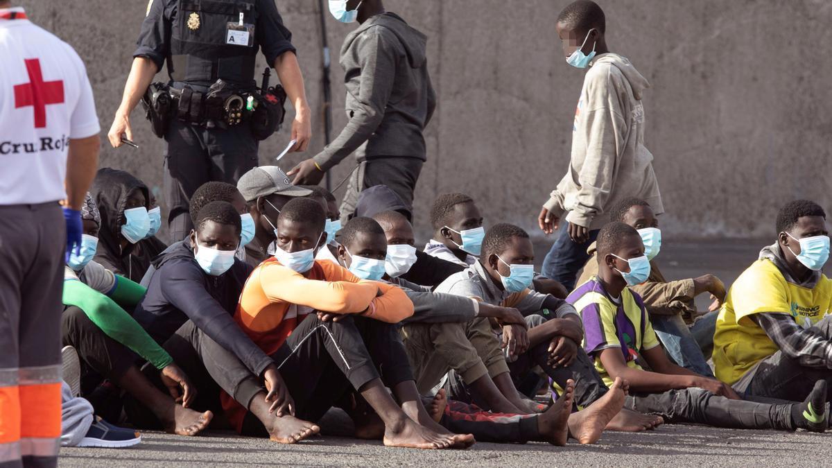 Llegada de inmigrantes a Gran Canaria.
