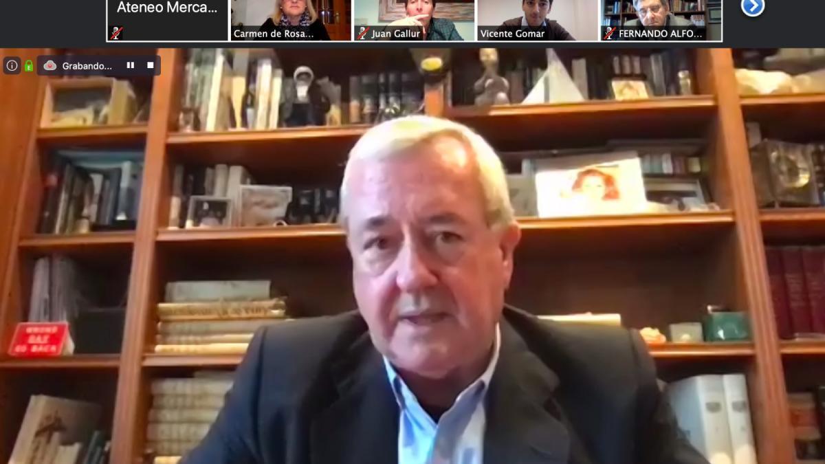 Ignacio Carrau moderó la mesa online del Ateneo