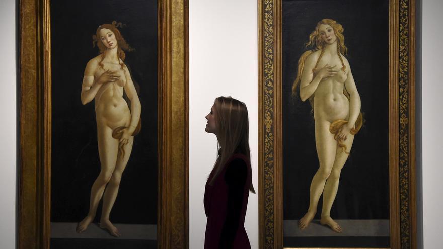 La guerra de los Uffizi con una página porno por la Venus de Botticelli