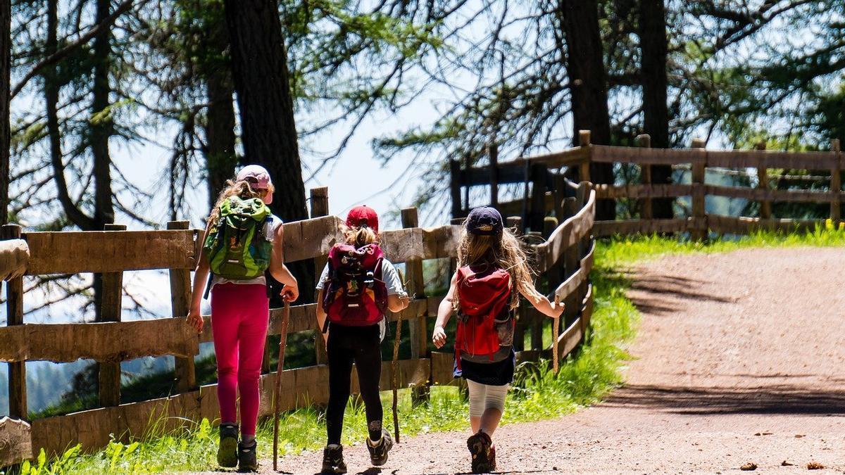 Turismo en un pueblo de montaña.