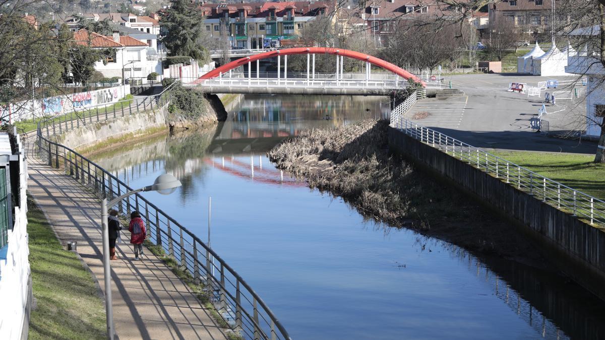 """La Universidad de Oviedo recomienda """"asegurar la máxima renovación del agua"""" para minimizar la contaminación del anillo navegable  del Piles"""