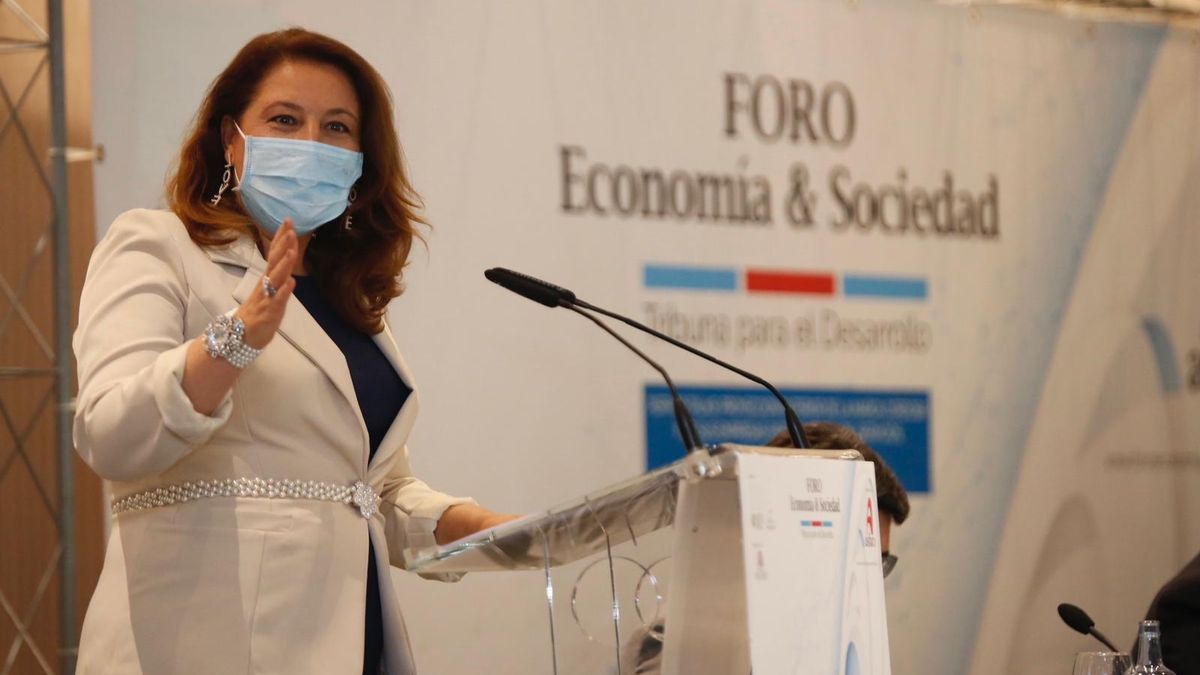 Carmen Crespo, durante su intervención.
