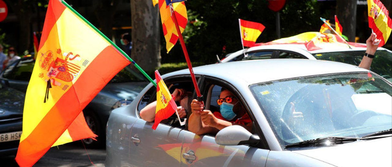 Manifestantes, ayer en València.