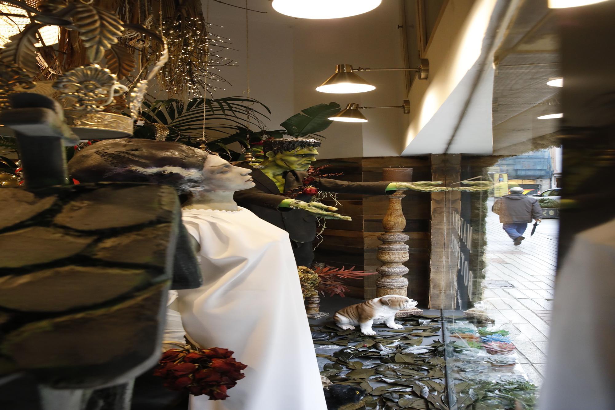Escaparates de Carnaval de premio en Oviedo