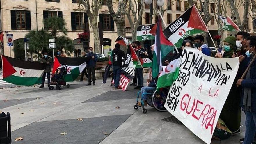 La concentración celebrada en Palma.