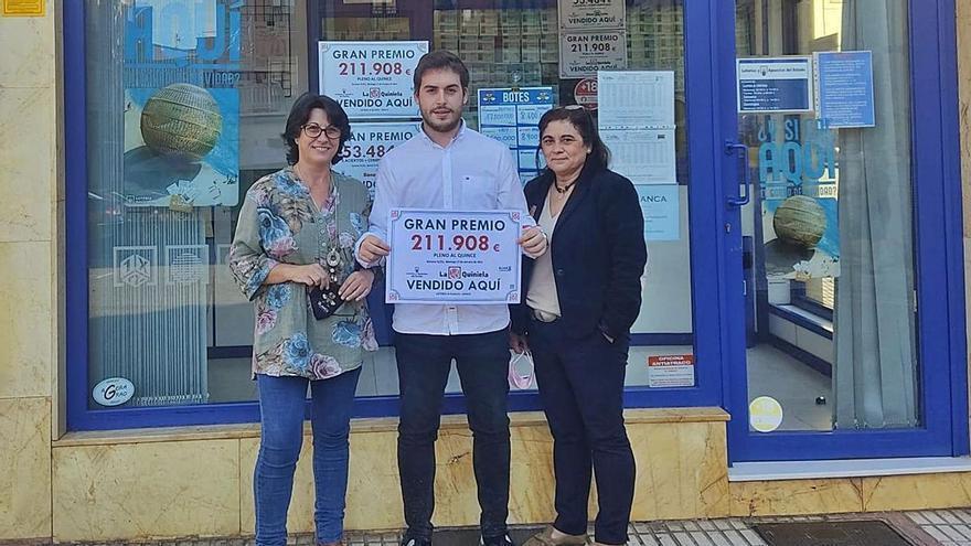 Más de 220.500 euros de la quiniela vuelan de Grado a una peña de Candamo