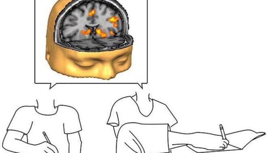 Para el cerebro es lo mismo escribir con la mano que con el pie