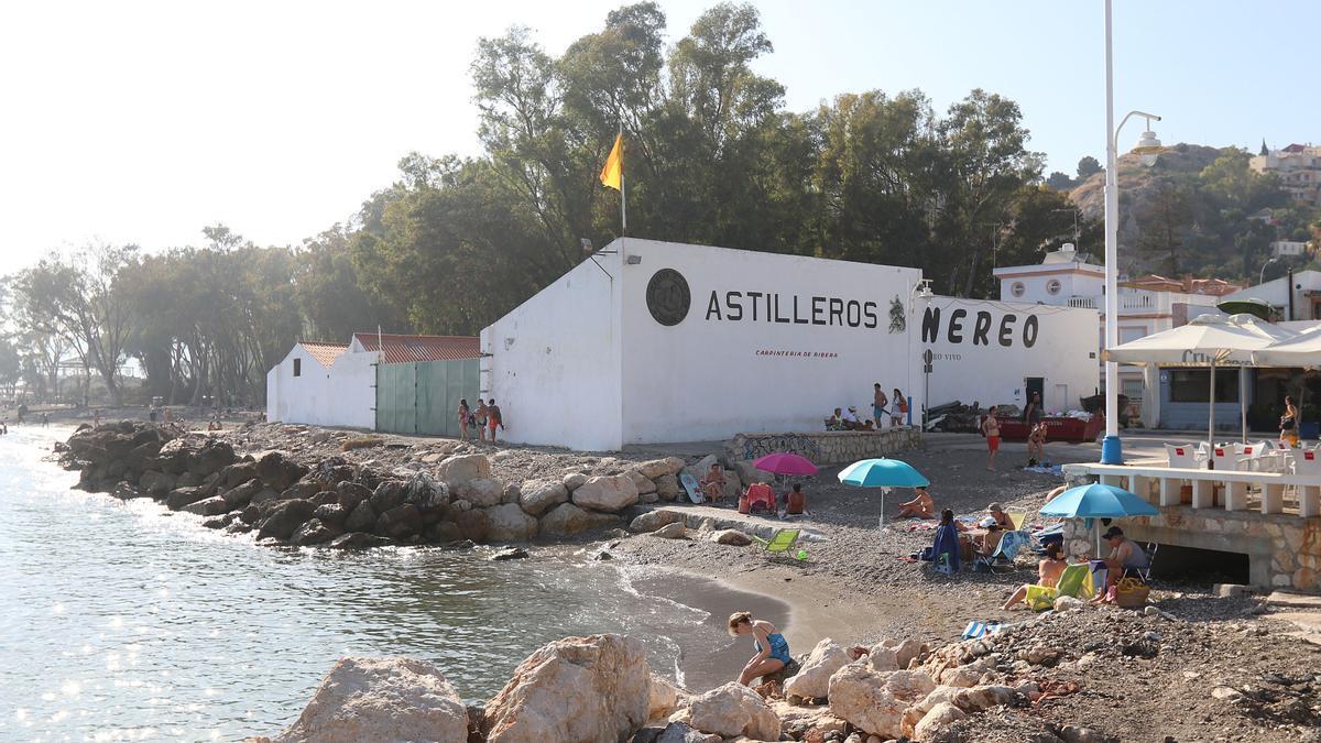 Imagen de los Astilleros  Nereo, en Pedregalejo