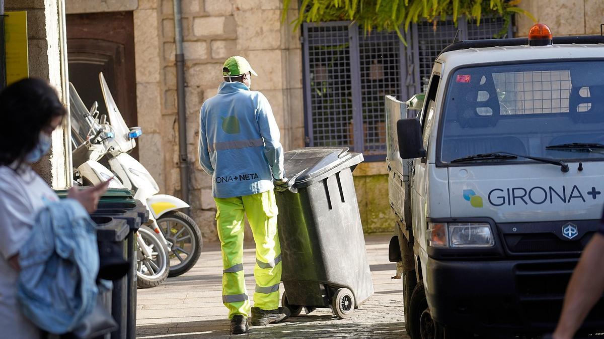 Treballadors de Girona+Neta, ahir