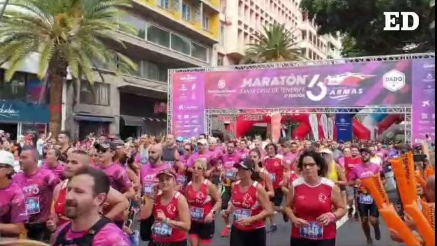 Salida de la prueba 8k de la sexta Maratón de Santa Cruz