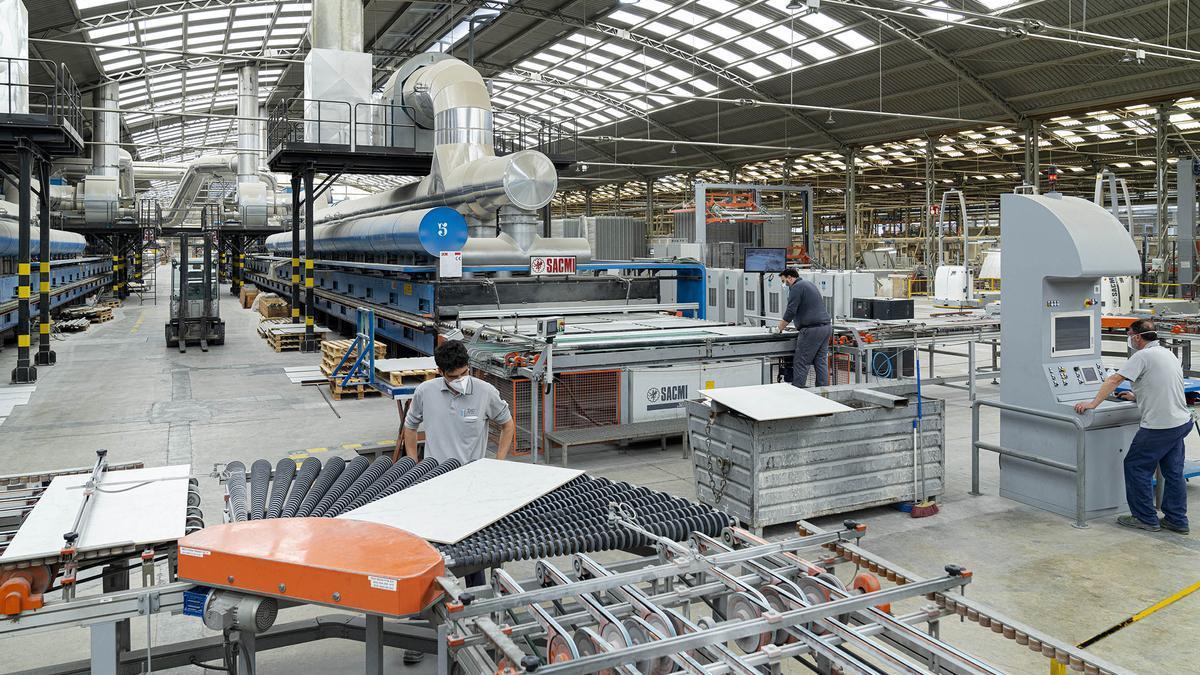 Imagen de una de las plantas de producción del grupo Pamesa.