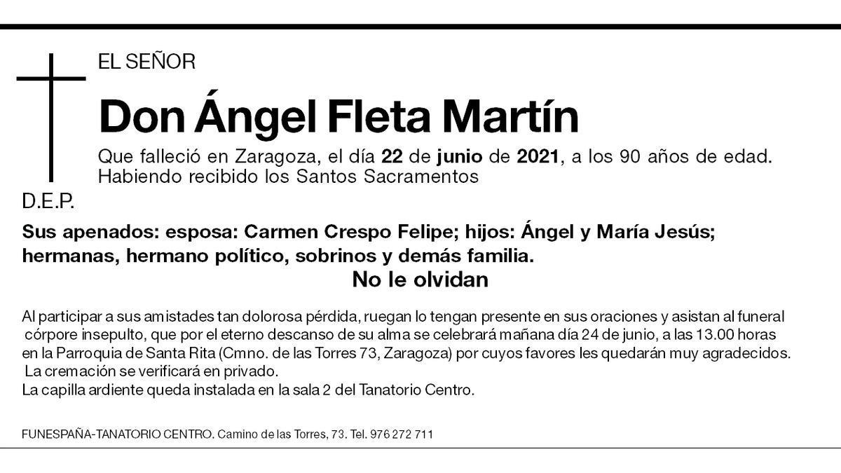 Ángel Fleta Martín