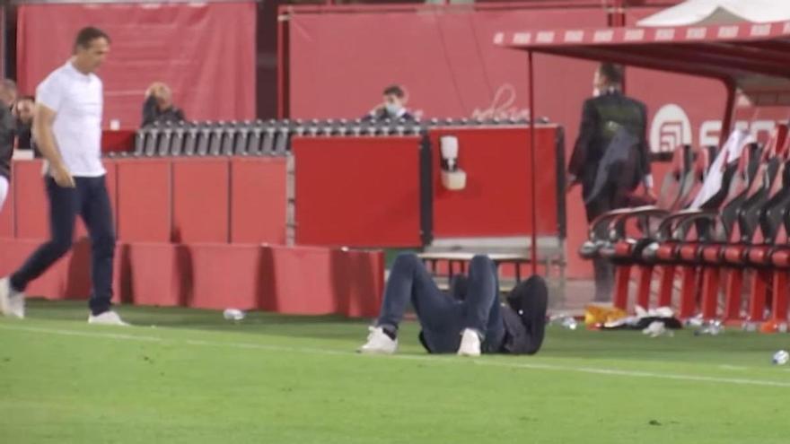 Así vivió Luis García los minutos finales del Real Mallorca-Sevilla