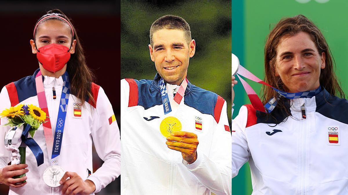 Adriana Cerezo, plata en taekwondo; bronce de David Valero en ciclismo de montaña y plata de Maialen Chourraut en K1.