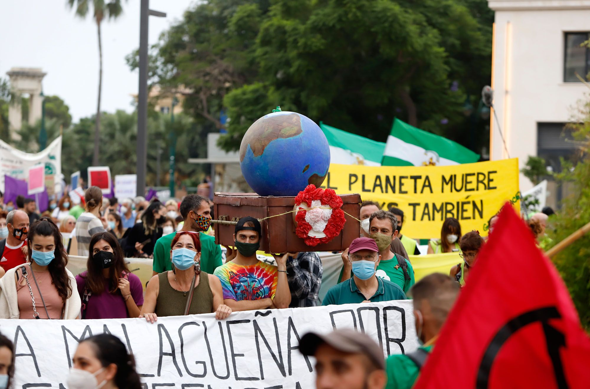 Manifestación 'Juicio por el clima' por las calles de Málaga