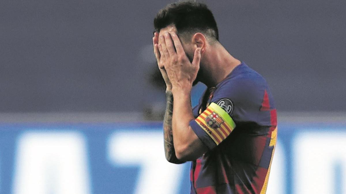 Leo Messi en un dels darrers partits amb el Barça.