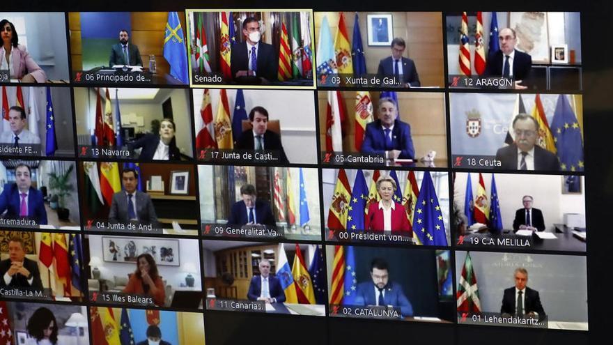 Barbón reivindica un arancel que proteja el acero asturiano  ante la presidenta de la Comisión Europea