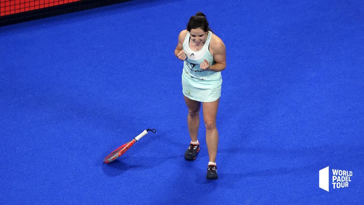 Paula Josemaría, tras ganar el partido de cuartos ante Lorena Rufo.