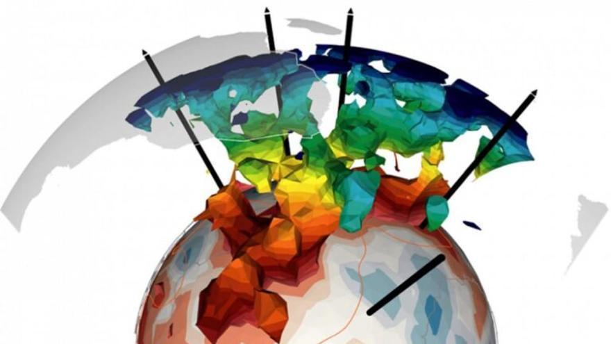 Un enorme árbol subterráneo de piedra caliente está subiendo el magma a la superficie de la Tierra