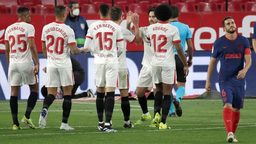 El Sevilla enciende todas las alarmas del Atlético