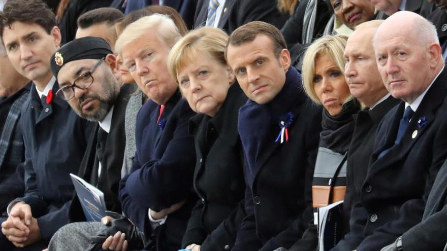 Macron condemna el nacionalisme com l'antítesi del patriotisme en el centenari de l'armistici