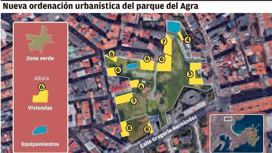 El Concello descarta devolver a las Adoratrices el carácter asistencial para no taponar el parque