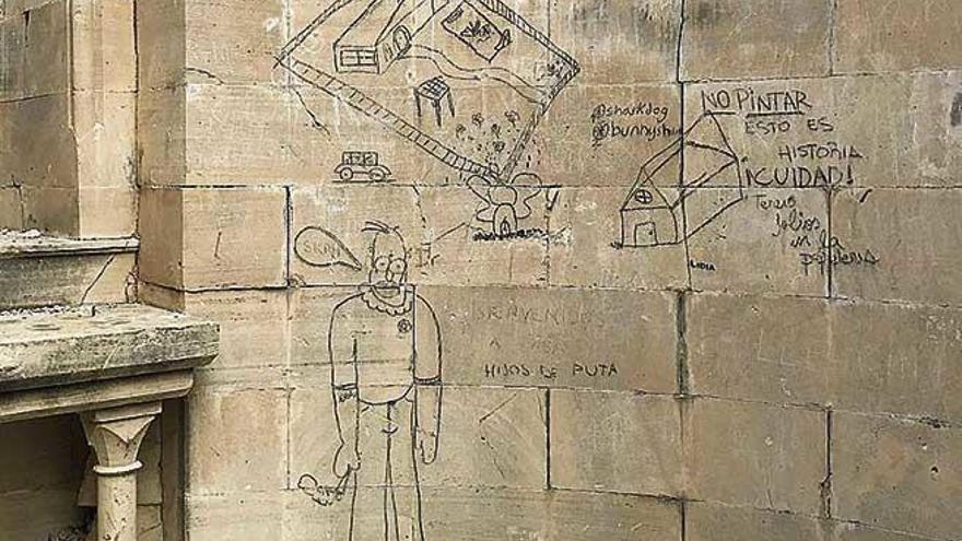 Pintadas en la Capilla de Ramon Llull