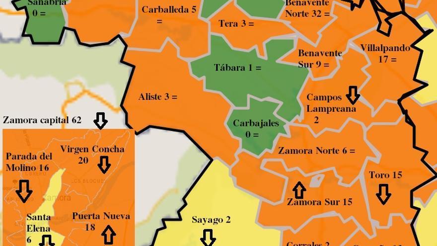 Zamora Sur y Puerta Nueva, únicas zonas básicas que aumentan contagios semanales