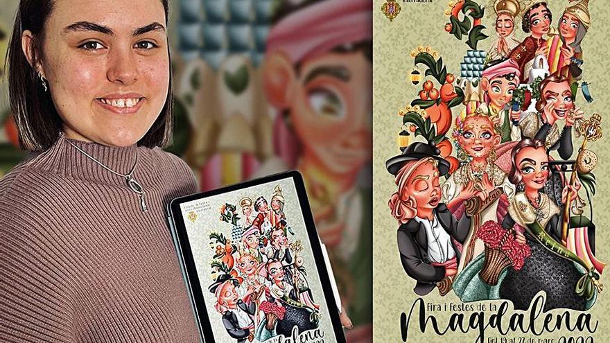'La Panderola' muestra el cartel de la Magdalena 2022