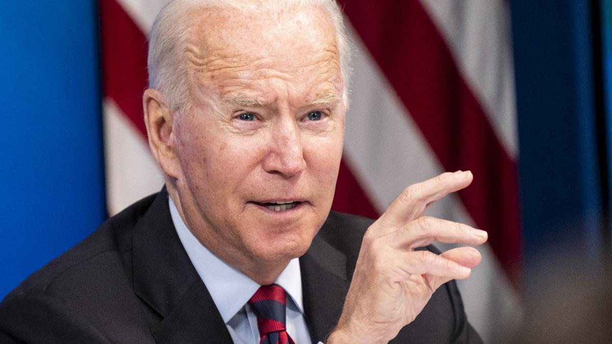 Joe Biden, durante una reunión virtual reciente