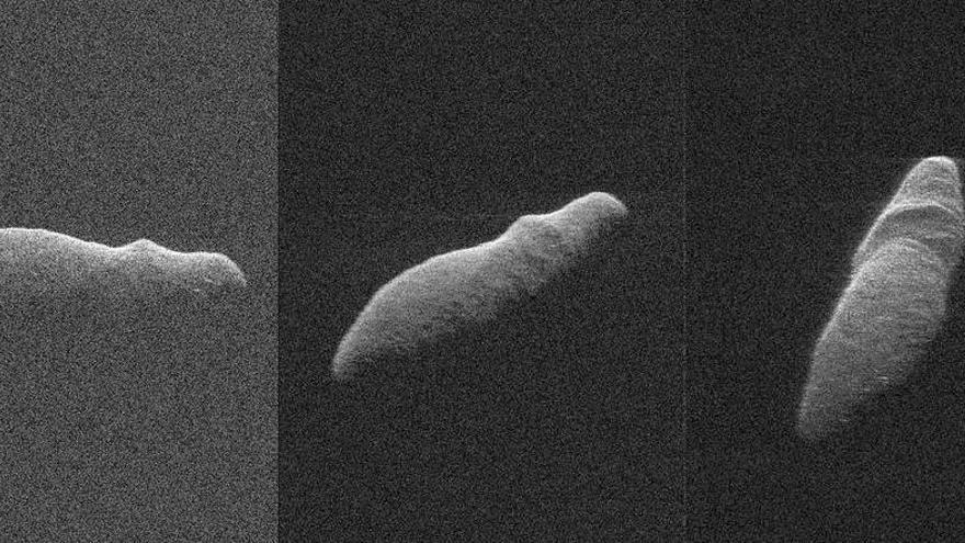 Un gran asteroide con forma de hipopótamo se acercó en Navidad