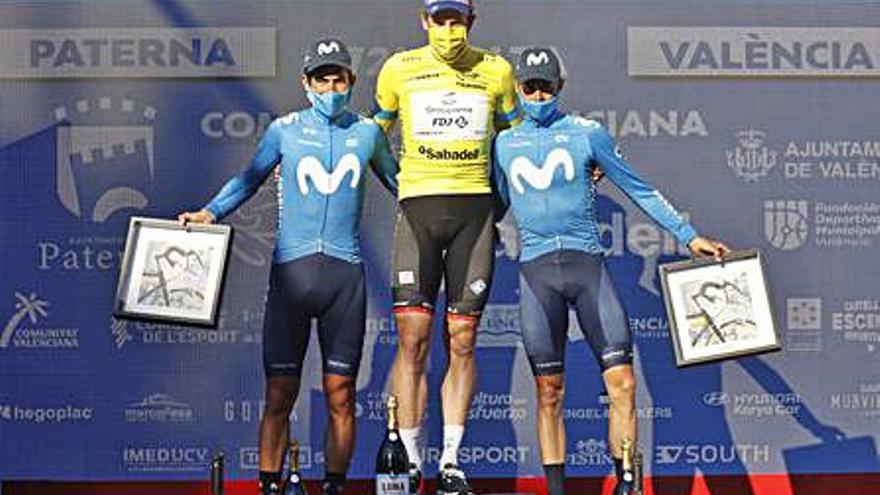 Enric Mas acaba tercero en la Vuelta a Valencia y el Movistar es el mejor equipo