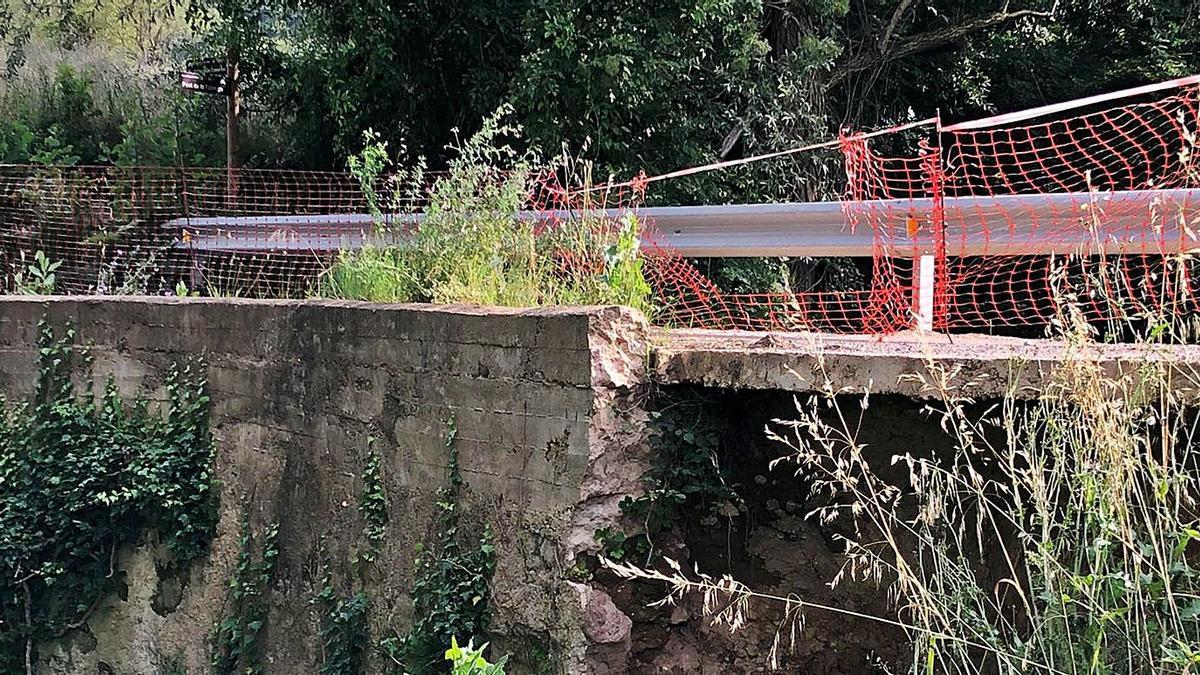 L'estat actual del pont de la Fàbrega, que connecta Berga amb el barri Serra Noet | ARXIU PARTICULAR