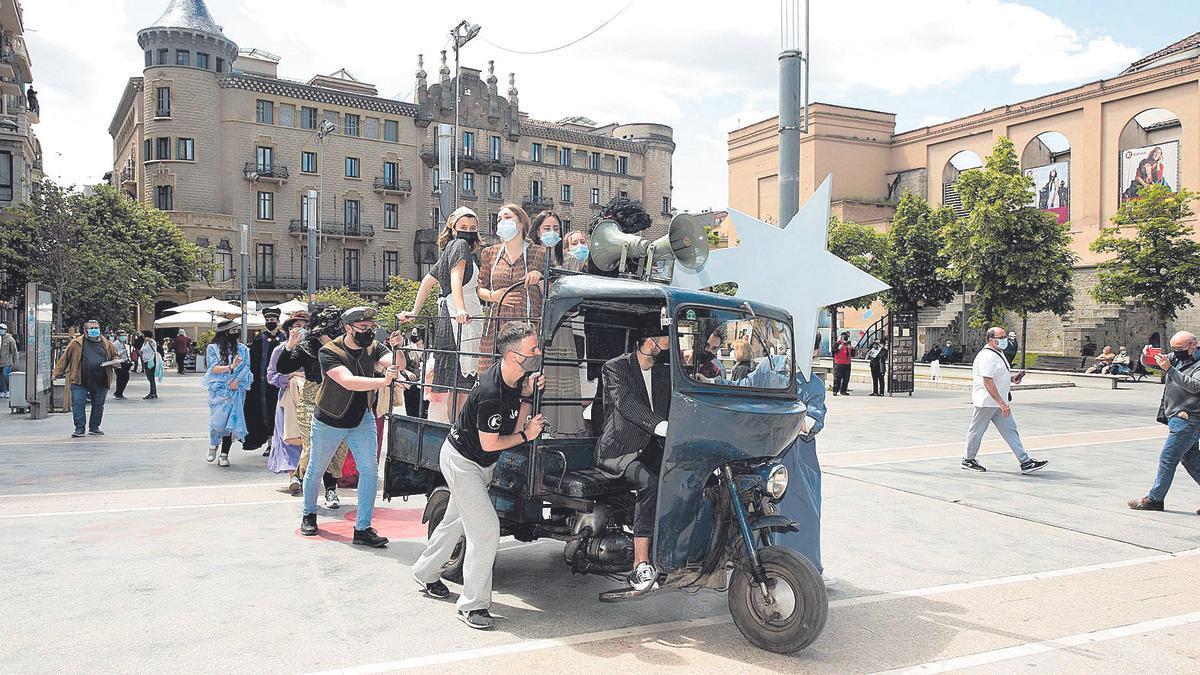 El motocarro de la imatge l'hi va costar al transportista manresà Enric Martí 39.000 pessetes l'any 1958