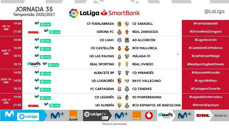 El Girona  - Saragossa, fixat pel divendres 16 d'abril