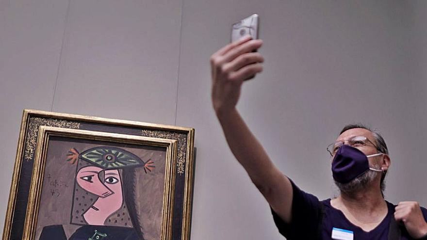 El Picasso donado al Prado ya cuelga entre Velázquez y El Greco