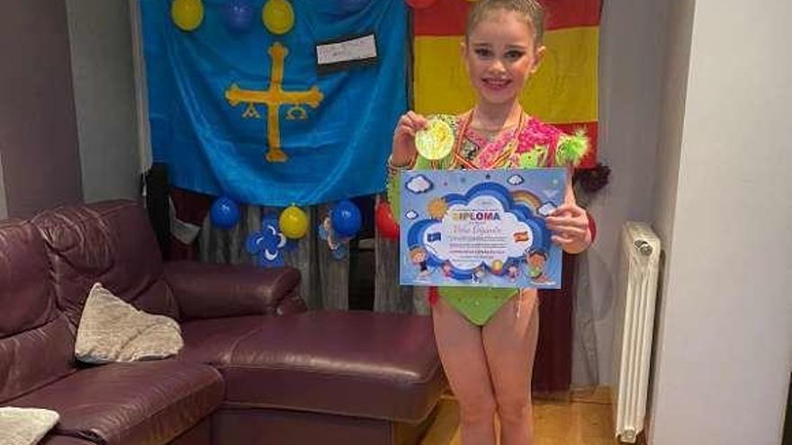 El club Ares de gimnasia rítmica organiza un campeonato en las redes