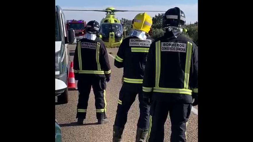 VÍDEO | Así fue la evacuación en helicóptero en el accidente de Fonfría