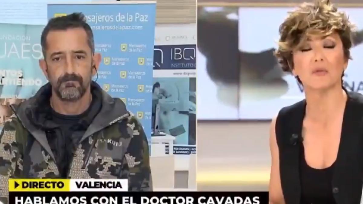 El doctor Pedro Cavadas durante la entrevista con Sonsoles Ónega.