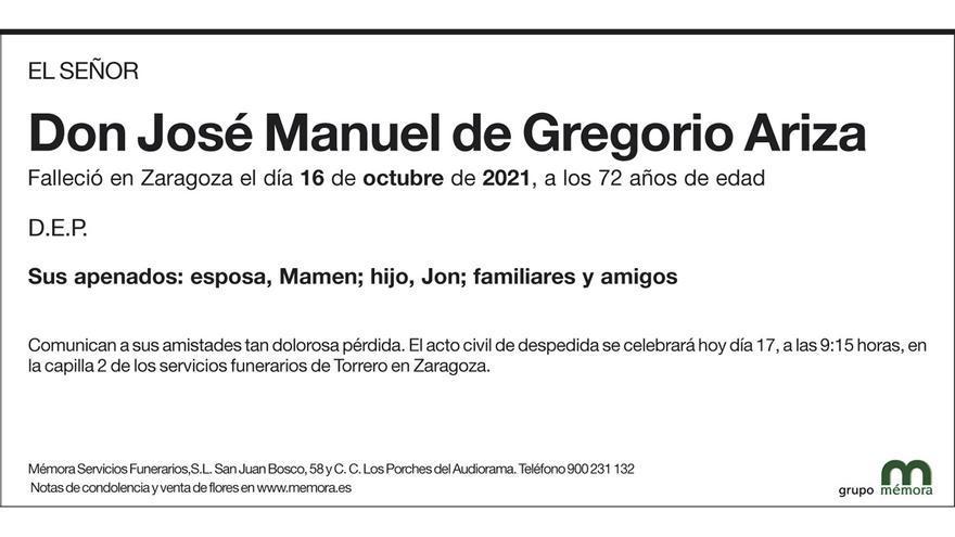 José Manuel de Gregorio Ariza