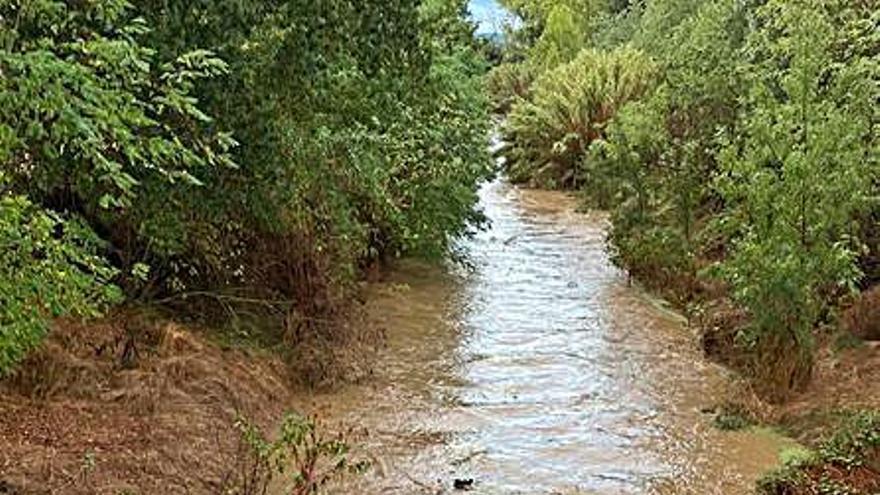 El riu Onyar en 24 hores de diferència a Vilobí