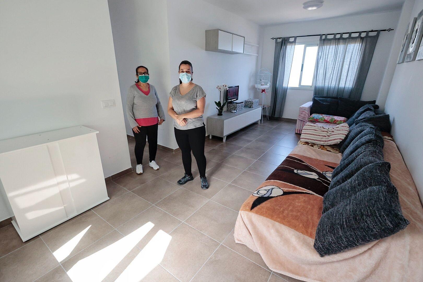 Casa de Añaza rehabilitada tras el incendio