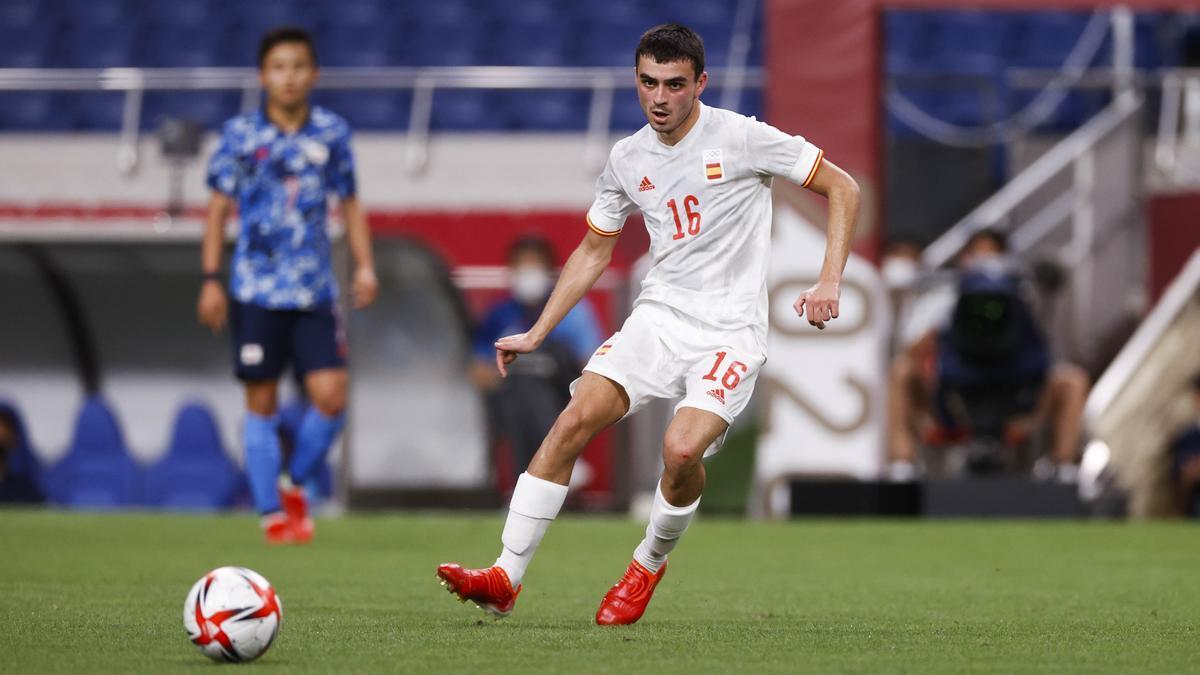 Pedri, during the game against Japan.