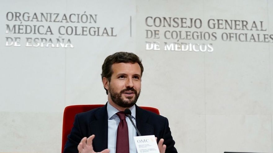"""Casado condena """"rotundamente"""" los altercados en Vallecas contra Vox"""