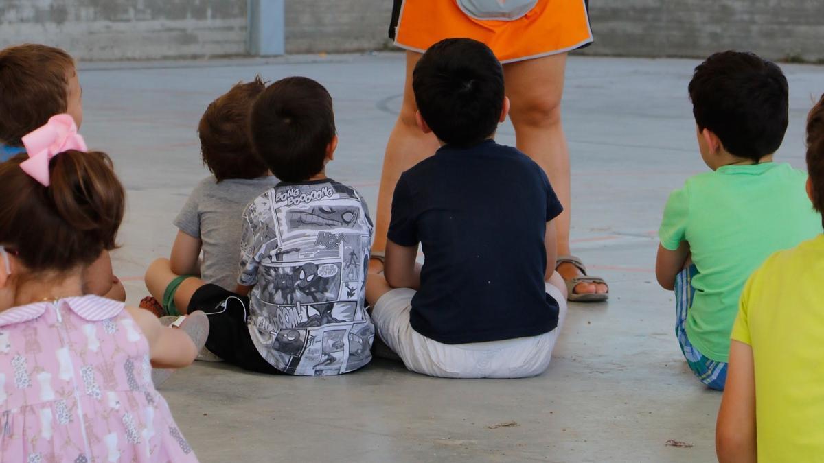 Niños en una actividad del programa Conciliamos
