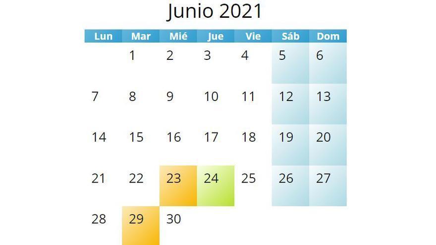 Hoy 24 de junio es festivo pero si no trabajas tendrás que recuperar las horas