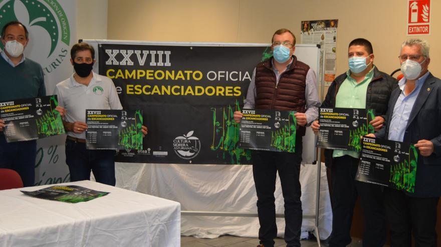 Cabranes será la sede de la apertura del Campeonato Oficial de Escanciadores