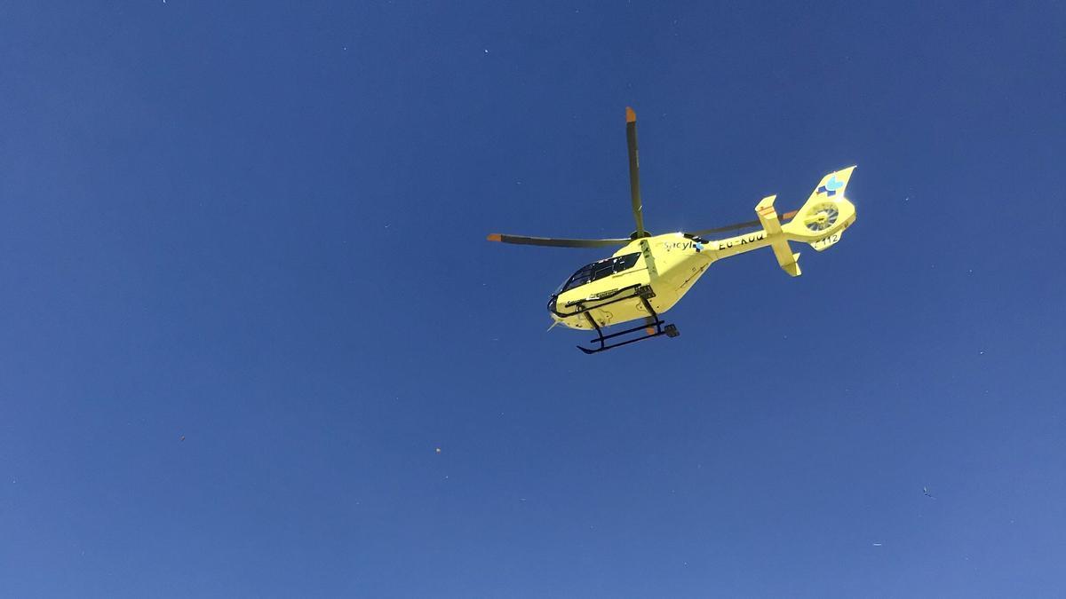 Helicóptero del 112.