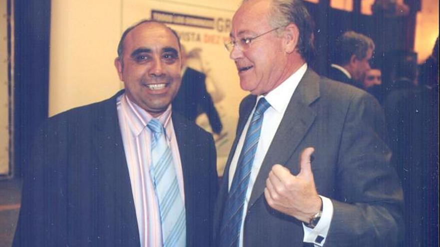 Francisco Magarzo, junto al ex alcalde de Zamora Antonio Vázquez